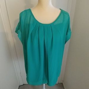 Tops - Plus Size Green Shirt